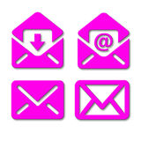 E-mail envelope signs/icons Royalty Free Stock Image