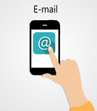 E-mail Flat Concept Vector Illustration Stock Photography