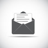 E-Mail Flat Icon with Shadow, Vector Illustration Stock Photography