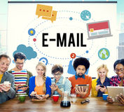 E-mail Global Communications Connection Internet Online Concept.  Royalty Free Stock Image