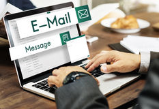 E-mail Global Communications Connection Social Networking Concep Royalty Free Stock Photography