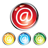 E-mail glossy round buttons Stock Photo