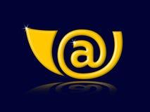 E-mail hoorn Stock Afbeelding