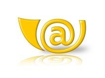 E-mail hoorn Royalty-vrije Stock Afbeelding