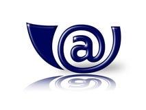 E-mail hoorn Royalty-vrije Stock Foto's