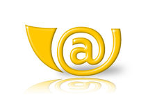 E-mail horn Royalty Free Stock Image