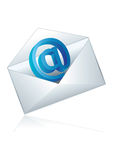 E-mail icon. Conceptual  illustration of shiny e-mail icon Stock Images