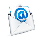 E-mail icon. Isolated on white Royalty Free Stock Image