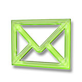 E-mail icon. 3D email envelope symbol isolated on white Stock Image