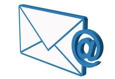 E-mail icon. Envelope isolated on white background Royalty Free Stock Photo