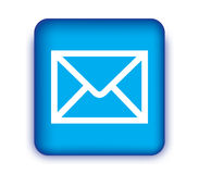 E-Mail Icon with Blue Box Stock Photo