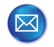 E-Mail Icon with Blue Button Stock Images