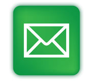 E-Mail Icon with Green Box Stock Photography