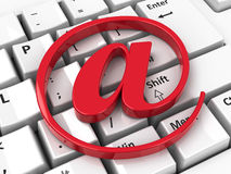 E-mail icon on keyboard Royalty Free Stock Photo