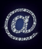 E mail icon made from diamonds Royalty Free Stock Image