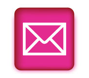 E-Mail Icon with Pink Box Royalty Free Stock Photos