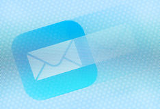 E-mail icon on the screen Royalty Free Stock Photography