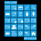E-mail Icon Set Stock Photography