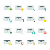 E mail icon set Royalty Free Stock Photos
