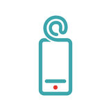 E-mail icon on smartphone screen vector illustration. Stock Image