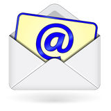 E-mail icon. On white background Royalty Free Stock Photos