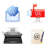 E-mail icons. Set of four realistic e-mail icons