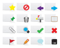 E-mail icons. Twelve different e-mail icons Royalty Free Stock Photography