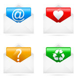 E-mail icons Stock Photography