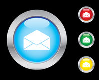 E-mail icons. Mail / e-mail glass button icons. Please check out my icons gallery Stock Image
