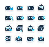 E-mail Icons // Azure Series Royalty Free Stock Image