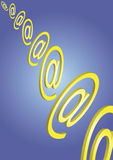 E-Mail-Icons flying. E-Mail-Icons are flying through space. This file is also available as EPS-file Stock Photo