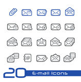 E-mail Icons // Line Series Royalty Free Stock Photos
