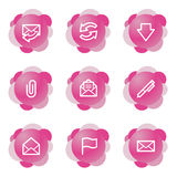 E-mail icons, pink series Royalty Free Stock Photography