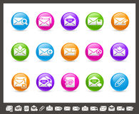 E-mail Icons // Rainbow Series. Vector icons for your web or printing projects Royalty Free Stock Image