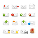 E-mail Icons - Set 2 of 3 // Soft Series Stock Image