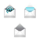 E-mail icons set Stock Photo