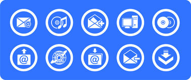 E-mail  icons set Royalty Free Stock Photo