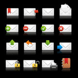 E-mail Icons - Set 2 // Black Background Royalty Free Stock Photos