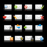 E-mail Icons - Set 1 // Black Background Royalty Free Stock Photo
