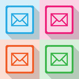 E-mail icons set great for any use. Vector EPS10. Royalty Free Stock Images