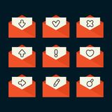 E-mail Icons Stock Photos