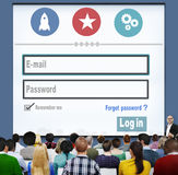 E-mail Identity Password Memebership Sing In Web Page Concept.  Royalty Free Stock Images