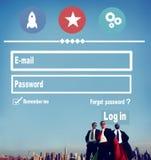 E-mail Identity Password Memebership Sing In Web Page Concept. E-mail Identity Password Membership Sing In Web Page Concept Royalty Free Stock Image
