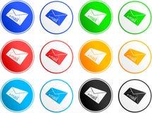 e - mail ikon znak Zdjęcia Royalty Free