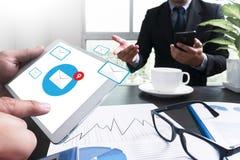 E-Mail-Ikone Konzept Lizenzfreie Stockfotos