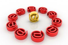 E-mail internet icon Royalty Free Stock Image