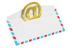 E-mail and internet messaging concept, 3D rendering Stock Images