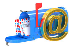 E-mail and internet messaging concept Royalty Free Stock Photos