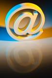 E-mail karakters. Online mededeling. royalty-vrije stock fotografie