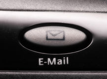 E-mail key Stock Photography